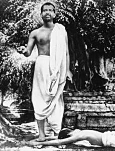 Sri Ramakrishna at the time his young disciples begn to arrive.