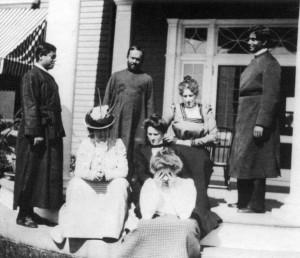 Swmai Vivekananda (left) and othesr at Ridgeley Manor 1899