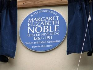 Sister Nivedita: Ulster Historical Circle plaque