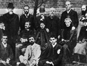 Gandhi with fellow vegetarians in London