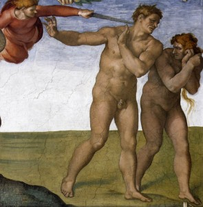Michelangelo: Fall and Expulsion from Garden of Eden