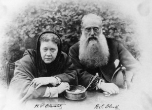 Col. Olcott with Mme Blavatsky