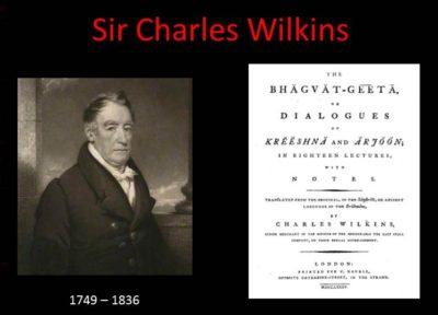 Sir Charles Wilkins